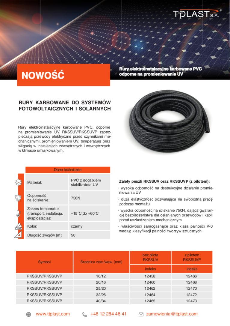 NOWOŚĆ - Rury do systemów fotowoltaicznych i solarnych