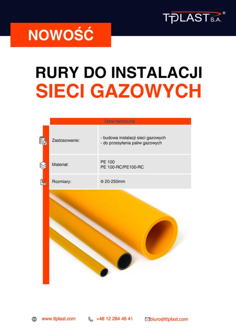 NOWOŚĆ w ofercie - rury do instalacji gazowych
